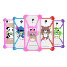 "Cartoon Ring Stand Silicone Case For sony xperia m4 aqua e5 for moto g3 g4 g4 plus Mobile Phone Cases 3.5-5.5"" Bumper"
