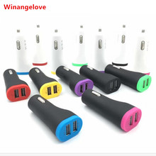 Winangelove Small pretty waist Dual USB Car Charger Portable Adapter 5V/2.1A for iphone for Samsung Cell Phone Tablet PC GPS PDA(China)