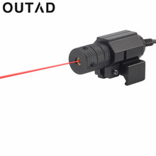 OUTAD Tactical Red dot Mini 1 Set Red Laser Pointer Sight With Tail Switch Scope Pistol with Lengthen Rat Tail Hunting Optics