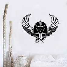 Pharaoh Egypt Pyramid Wings Wall Sticker Vinyl Decals Mural Bedroom Design Pattern Wall Decal Removable Wallpaper Art DecorLC066(China)