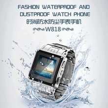 W818 IP67 Waterproof Android Smart Watch Phone with SIM Card Camera Touch Screen Bluetooth Unlock GSM Telephone Can Swim with It