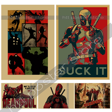 Posters Deadpool Deadpool Marvel superhero Meng cheap decorative sticker Ryan Reynolds Movies & Videos paintings(China)