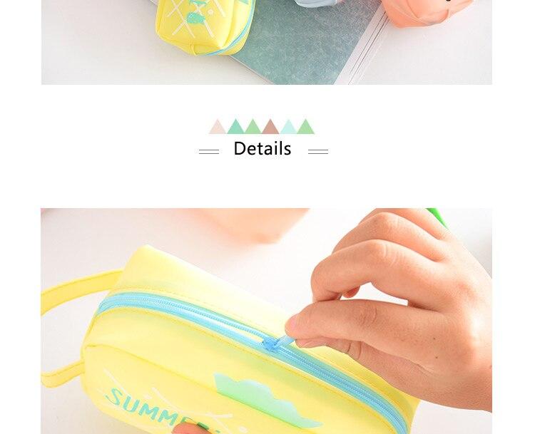 Large Bag Pencil Case For Student Girl  Cute School Stationery Supplies Gift Big Kawaii Silicone Cartoon Fruit Pen Box Zipper 1 (13)1