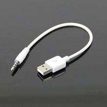 P80 hot 10pcs/lot 3.5mm USB Data Cable Sync Charging Cable Cord Adapter for Apple iPod 2nd