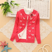 6-14 years girls cotton cardigans good quality girls' sweaters 2016 spring new style children sweaters K501