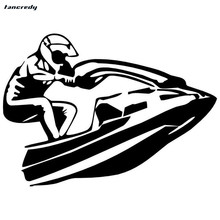 Tancredy The 2nd Half Price 15.5*11.1cm 3D funny Car Styling Stickers Motorboat Riding Car Stickers and Decals Car Body Stickers(China)