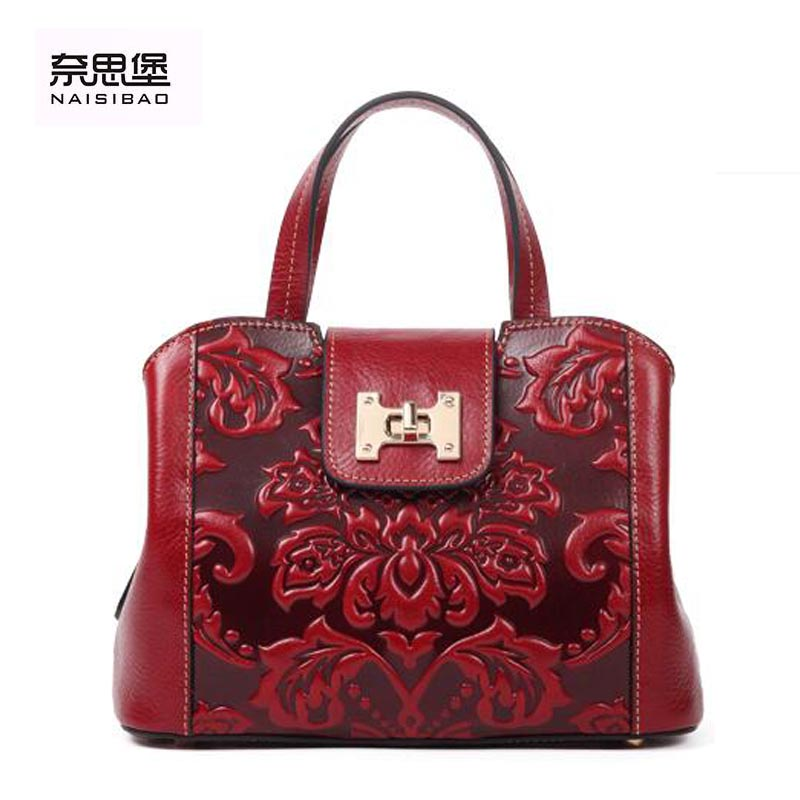 Famous brand top quality Genuine Leather women bag 2016 new original Chinese style messenger bag Simple handbag(China (Mainland))