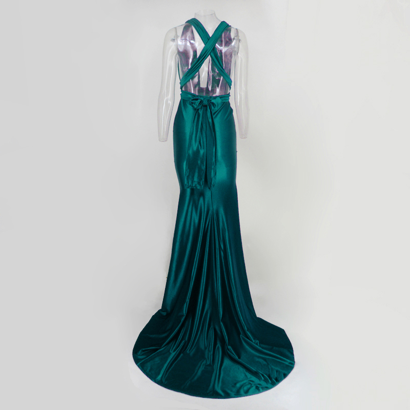 Elegant Backless Satin Mermaid Tail Wonder Dress (Us 4-14)