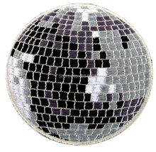 "3"" Disco light mirror dance ball Embroidered Patch Uniform Movie TV Iron On Patch Custome TRANSFER MOTIF APPLIQUE(China)"