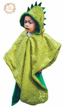 Dinosaur Scale Spike Car Seat Poncho Green Yellow Safe Traveling Cloak Jacket Coat Children's Hooded Blanket(China)
