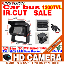 sale Car Special Bus Reversing Camera AV Joint 1/3cmos 1200TVL Waterproof IP66 Night Vision ir30m Surveillance Security ahdl ca(China)