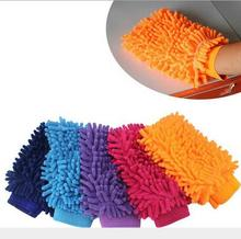 Car cleaning Snow Neil fiber coral high density Car wash mitt gloves towel Mop(China)