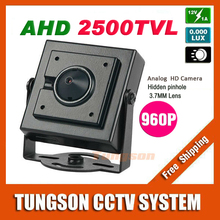 NEW Product Concealed AHD 2500TVL 3.7mm Pinhole Lens Security 1.4MP 1280*960P Micro Video Surveillance Small Mini CCTV Camera
