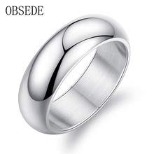 OBSEDE Fashion Men Rings Gold & Silver Titanium Stainless Steel Ring For Men Jewelry Wedding Gift Engagement Gifts for Loves