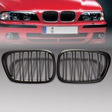 Matte Black Kidney Twin Slat Grille Grilles For BMW E39 5 Series M5 1997-2003(China)