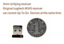 Original 3mm Unifying Receiver For wireless mouse and keyboard Logitech M185 M280 M545 mk260 270 Can Connect Up To Six  Devices
