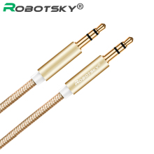Gold Plated Aux Cable 3.5mm jack Male to Male Audio Cable for car iPhone MP3 / MP4 Headphone Speaker Nylon Alloy Plug(China)
