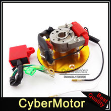 Motorcycle Gold Racing Magneto Stator Rotor Ignition CDI Box For 110cc 125cc 140cc Engine Chinese Lifan YX Pit Dirt Motor Bike(China)