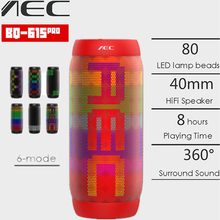 AEC BQ 615 PRO Colorful LED Lights Wireless Bluetooth 3.0 HIFI Stereo Speaker 3.5mm Audio Support NFC Mic FM Radio