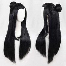 ancient chinese style hair ancient chinese long black ancient dynasty hair for adults chinese ancient warrior cosplay(China)