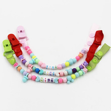Buy New Baby Pacifier Clip Chain Boys Girls Colourful Beads Newborn Dummy Pacifier Chain Clip Holder Baby Nipple Feeding Hot Selling for $1.26 in AliExpress store
