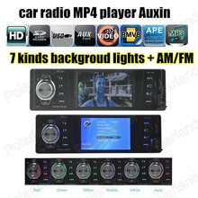 Car Auto Audio remote control Radio Stereo FM MP4 Player Auxin with USB Port and SD Card Slot AM FM(China)