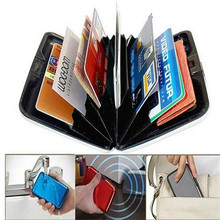 Buy Mens Womens Case Container Storage Bags Aluminum Slim ID Credit Card RFID Protector Holder Purse Wallets Pouch Travel Organizer for $1.24 in AliExpress store