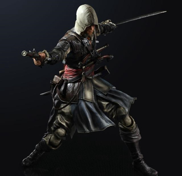 Play Arts Kai PA Assassins Creed 4 Black Flag Assassin Greed Edward Kenway Figure 250MM PVC Action Figure Toys Gift Brinquedos<br>