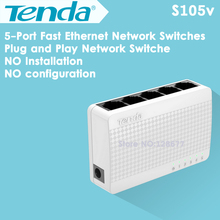 Tenda S105 5 Port RJ45 10/100Mbps Network Switches Adaptive Ethernet Switch Desktop Network Switch Adapter HUB