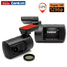 Conkim Car DVR Mini 0806 Dash Cam Camera Recorder Ambarella A7LA50 Super 1296P With GPS Parking Sensor CPL Filter Auto Camera(China)