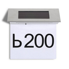 Solar Power LEDs House Address Number Light Doorplate Door Plate Wall Lamp LED Solar Powered
