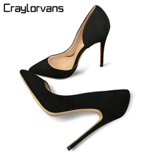 Craylorvans Top Quality Two Piece Women Pumps Thin High Heels Sexy Fashion Stilettos Italy Design Women Shoes