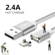 2.4 Magnetic Micro Usb Data Cable Apple iPhone 7 6 5 5s 6s Plus Charging Android Samsung Mobile Phone Charger Cord - Jupitar Stars Store store