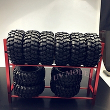 Cool Red RC Truck Tyre Rack for 1/10 Wheel Rims Tire RC4WD SCX10 D90 CC01 F350 Top Quality Free Shipping(China)