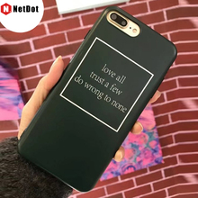 NetDot Pink case for iphone 7 plus 8 plus i8 cover girls fashion design for iphone 6s 6 phone back cover black soft capa(China)