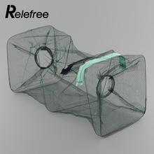 Relefree Crab Fish Crawdad Lobster Shrimp Fishing Bait Tackle Cast Dip Net Mesh Hoop Cage Trap Drop Shipping