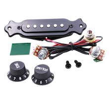 Guitar  Copper Single Magnetic Coil Noiseless  Acoustic Guitar Pickup With Volume Tone Control   with Knobs Mounting Screws Set