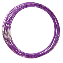 30pcs/lot New Purple Copper Memory Wire Necklace Choker Cords Findings 160199