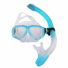 Professional Silicone Diving Mask Snorkel Anti-Fog Goggles Glasses Breathing Tube Set Swimming Snorkeling Equipment Hot Sales