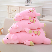 Direct deal pink pig giant plush doll pig toys for children gift High quality and low price 75cm(China)