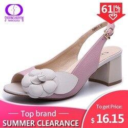 Женские сандалии на каблуке