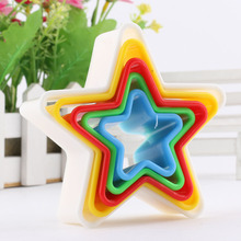 5pcs Round Various Mould Fondant Cake Biscuit Baking Cookie Plunger Cutter Decor Stars Christmas Tree Mould Food Grade ABS(China)