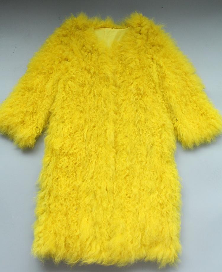 women natural lamb sheep fur coat (22)