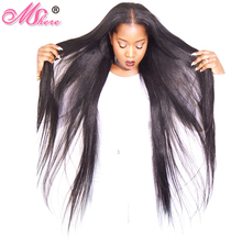 Malaysian Straight Human Hair Weave Bundle 1Pcs Non Remy Hair Extension Natural Black 1B# Can Be Dyed Bleached Mshere Hair Weft(China)