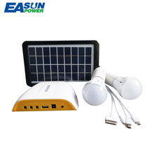 EASUNPOWER Solar Generator Portable 3W Mini DC Solar Panel Power 3.7V 4.4AH Lithium Battery Outdoor Charging LED Lighting System(China)