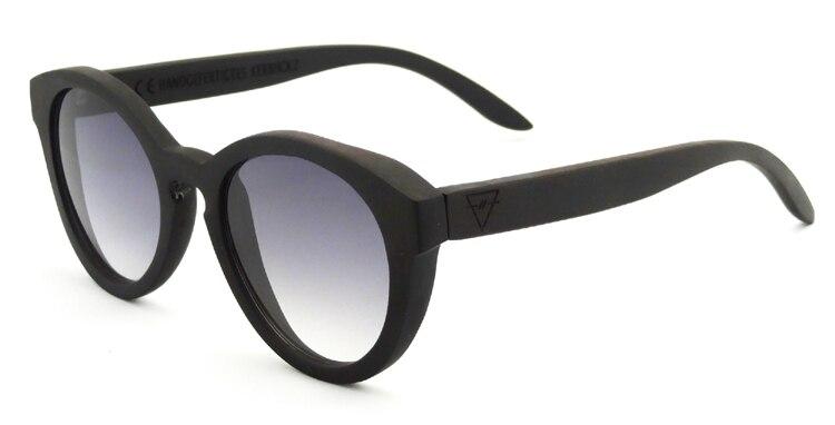 Luxury Ebony Wood Sunglasses With Custom Logo Grey Gradient Mirror Glasses Retro Vintage Round Sunglasses For Women Men 6128<br><br>Aliexpress