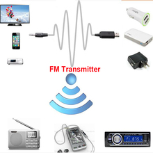 New Protable FM Transmitters Wireless Car Mp3 Player FM Modulator Black For Auto Audio Television Computer DVD iPhone Mobile
