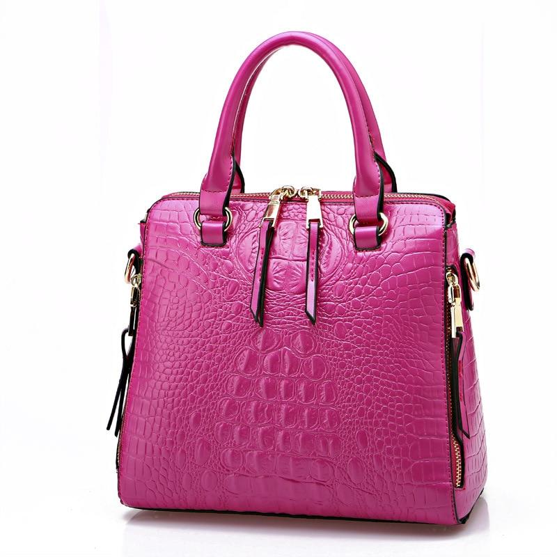 2016 women handbags leather handbag Sac A Main ladies Brand Designer Shoulder Bag handbags crocodile women Messenger Bag bolsas<br>