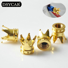 * DSYCAR 4Pcs/lot Universal Car Moto Bike Tire Wheel Valve Cap Dust cover Car Styling for Fiat Audi Ford Bmw toyota VW Lada opel(China)