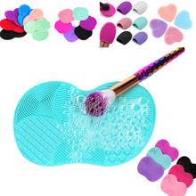 5 type Silicone Makeup Brush Cleaning Mat Washing Tools Hand Tool Pad Sucker Scrubber Board Washing Cosmetic Brush Cleaner Tools(China)